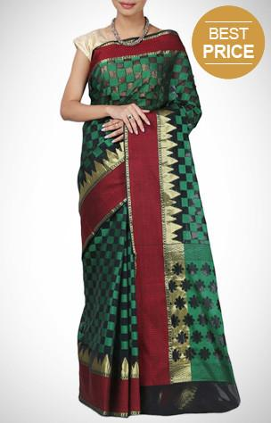 Sarees, chanderi, silk, party wear, zari work, ethnic wear, traditional.