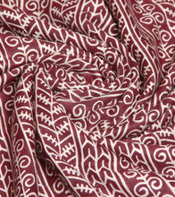 Maroon Embroidered Pashmina Blend Salwar Kameez