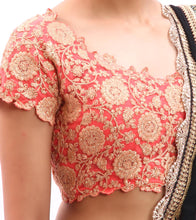 Rose Pink Embroidered Net Blouse