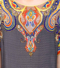 Multicoloured Viscose Crepe Embroidered Tunic
