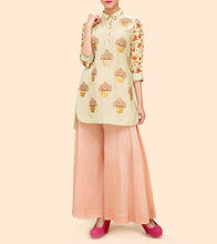 Light Green Silk Printed Kurta Set