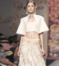 Beige Brocade Embroidered Lehenga Set
