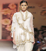 White Rayon Embroidered Anarkali Suit