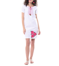 White Linen & Cotton Resham Embroidered Tunic