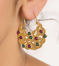Multicoloured Alloy Metal Bead Embellished Earrings