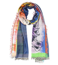 Multicoloured Modal Silk Digitally Printed Scarf