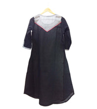 Grey & Black South Cotton Kurti