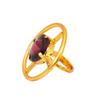 Purple Brass Handmade Ring