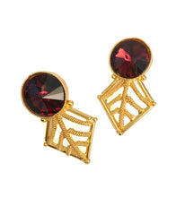 Red Brass Handmade Earrings