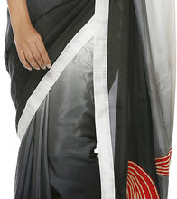 White Silk Embroidered Saree with Unstitched Blouse Piece