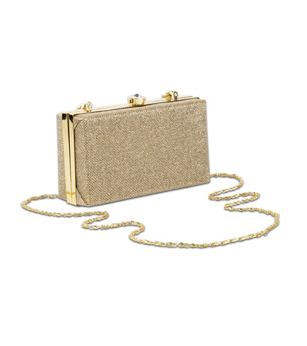Golden PU Solid Clutch