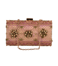 Golden Silk Embroidered Clutch