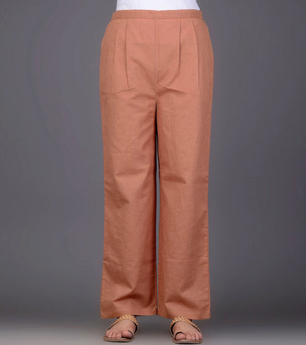 Orange Khadi Pants