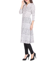 White Cotton Block Printed Kurti