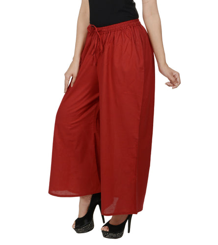 Red Cotton Palazzos
