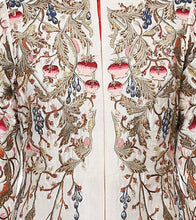 Off White & Maroon Cotton Silk Embroidered Jacket With Skirt