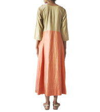 Orange Handloom Silk Marodi Work Kurti