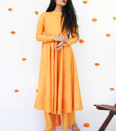 Yellow Silk Salwar Kameez