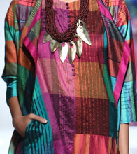Multicoloured Silk Printed Inner Tunic