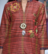 Rust Silk Embroidered Tunic