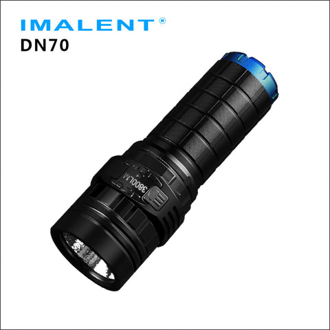 IMALENT DN70 CREE XHP70 LED portable 26650 flood flashlight with OLED display