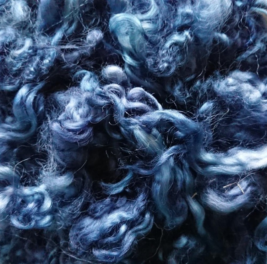 Denim Leicester Curls - Highland Felting and Fibre Supplies