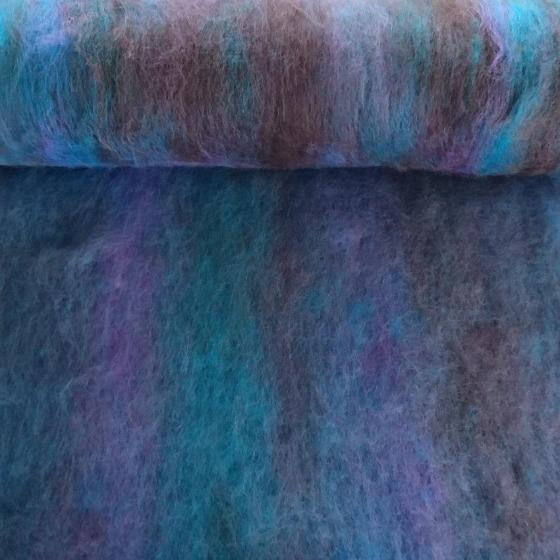 Black Springs Blended Batt - Highland Felting and Fibre Supplies