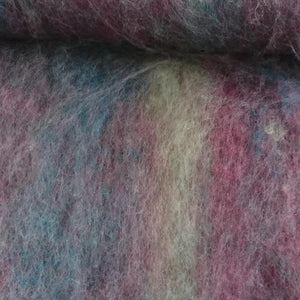 Blackberry Jam Blended Batt - Highland Felting and Fibre Supplies