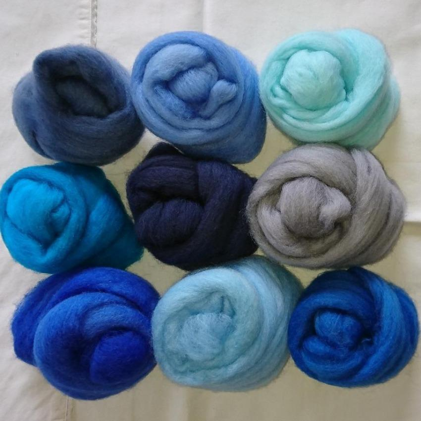 Blue Pack - Highland Felting and Fibre Supplies