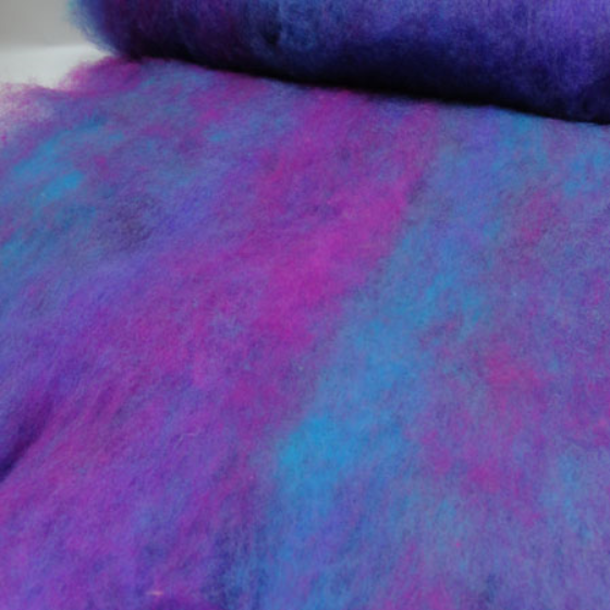 Blueberry Delish Blended Batt - Highland Felting and Fibre Supplies