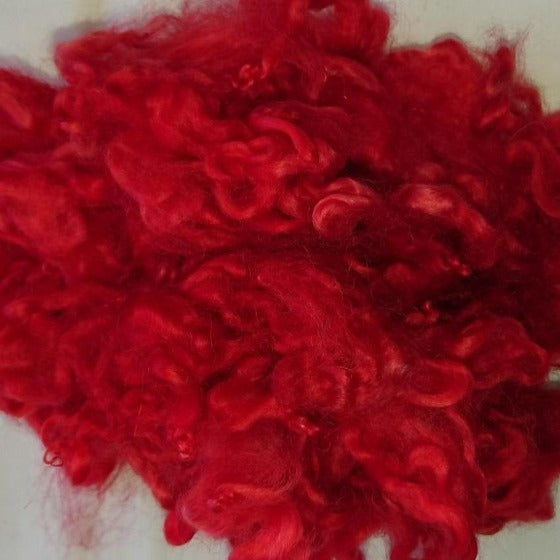 Chilli Fire Leicester Curls - Highland Felting and Fibre Supplies