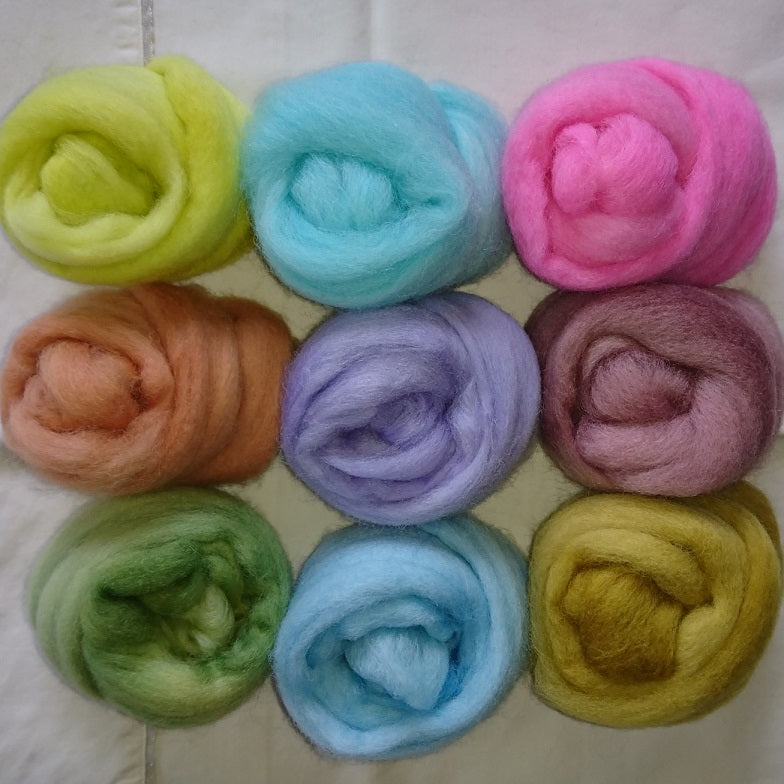 Pastel Pack - Highland Felting and Fibre Supplies