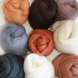 Earthy Pack - Highland Felting and Fibre Supplies