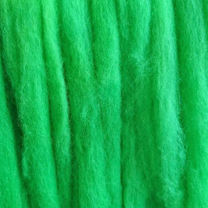 Lime Spider Batts - Highland Felting and Fibre Supplies