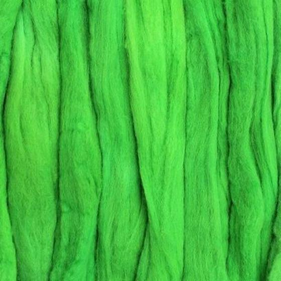 Lime Spider Tops - Highland Felting and Fibre Supplies