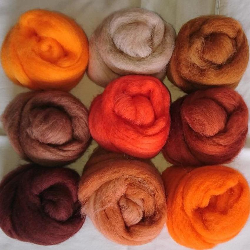 Orange Pack - Highland Felting and Fibre Supplies