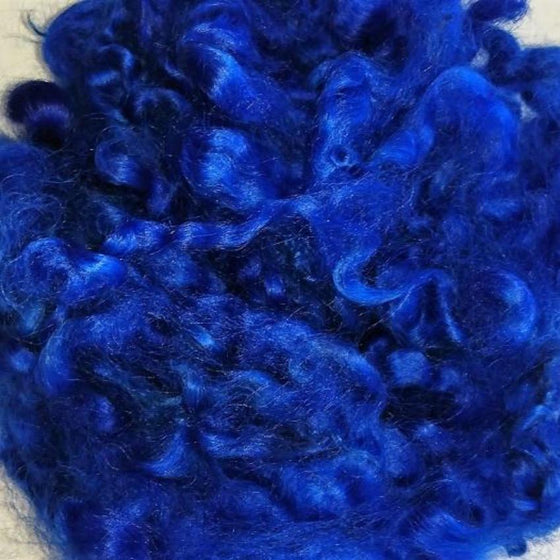 Peacock Leicester Curls - Highland Felting and Fibre Supplies