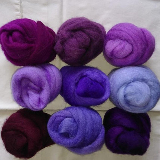 Purple Pack - Highland Felting and Fibre Supplies
