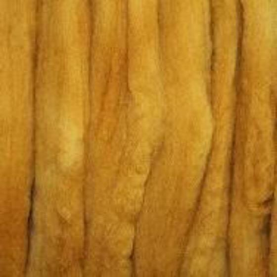Yellow Ochre Batts - Highland Felting and Fibre Supplies