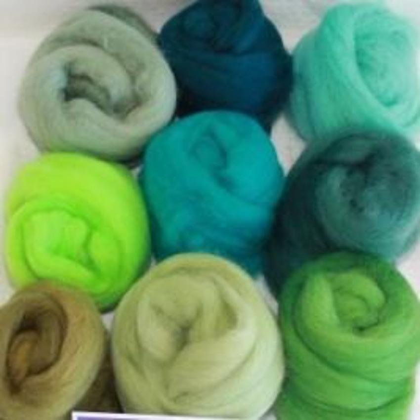 Green Pack - Highland Felting and Fibre Supplies