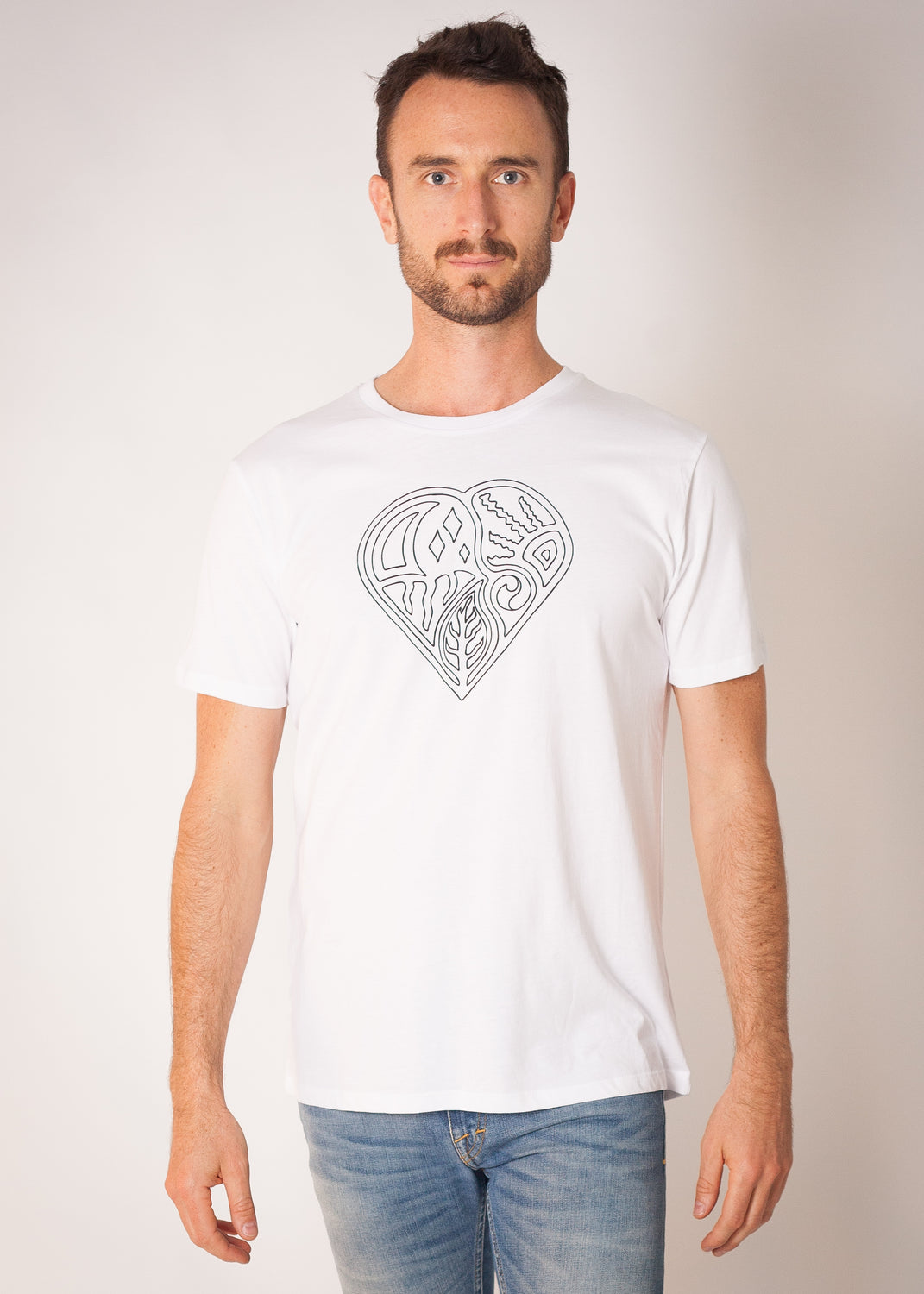 Fields Life Symbol Logo T White