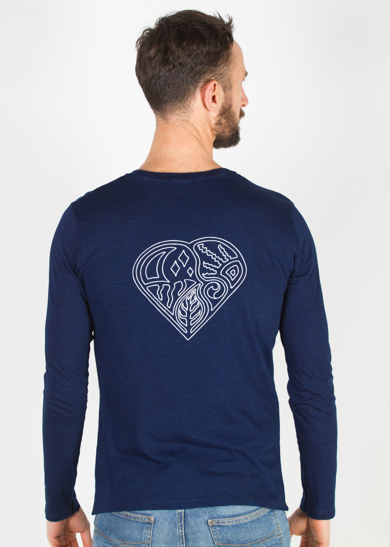 Shelter Long Sleeve T Indigo