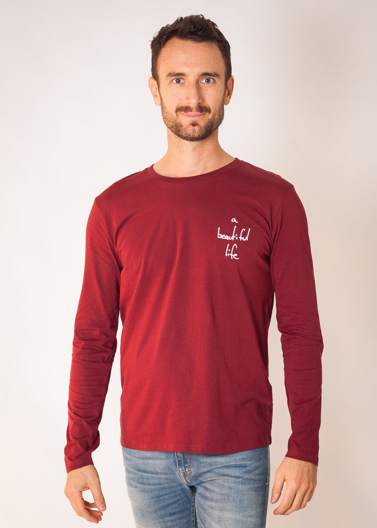 Shelter Long Sleeve T Burgundy
