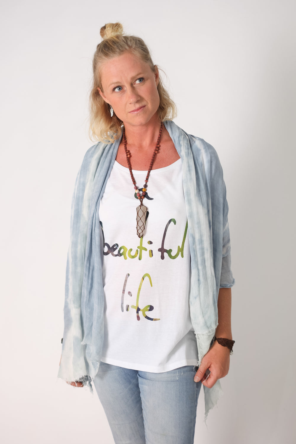 Palm Life Oversize Tencel / Cotton Blend T