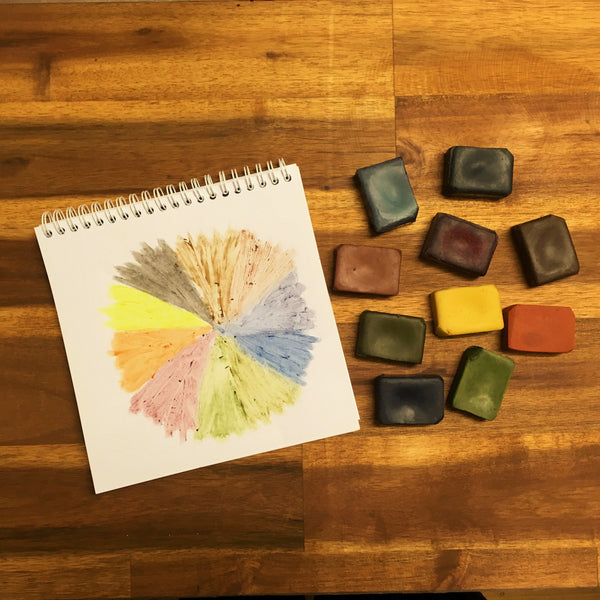 TWO BOXES OF ECO CRAYONS: 10 plant based natural crayon blocks