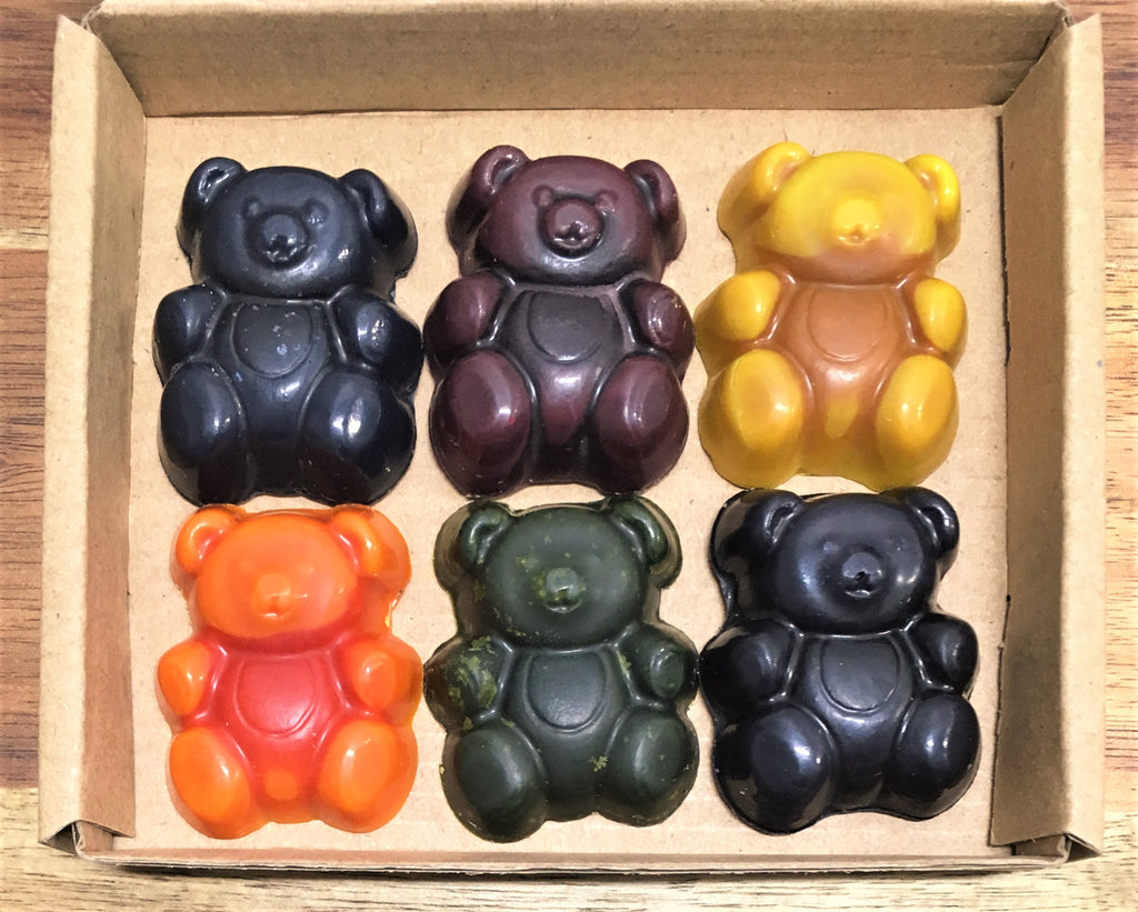 ECO CRAYONS: Teddy Bear Crayons - 100% natural plant based crayons