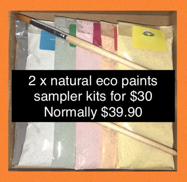 Double Deal - Natural eco paints sampler - eco-friendly powdered paint
