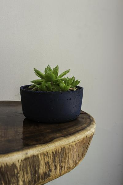 Cement Planter (Blue) - Set of 2