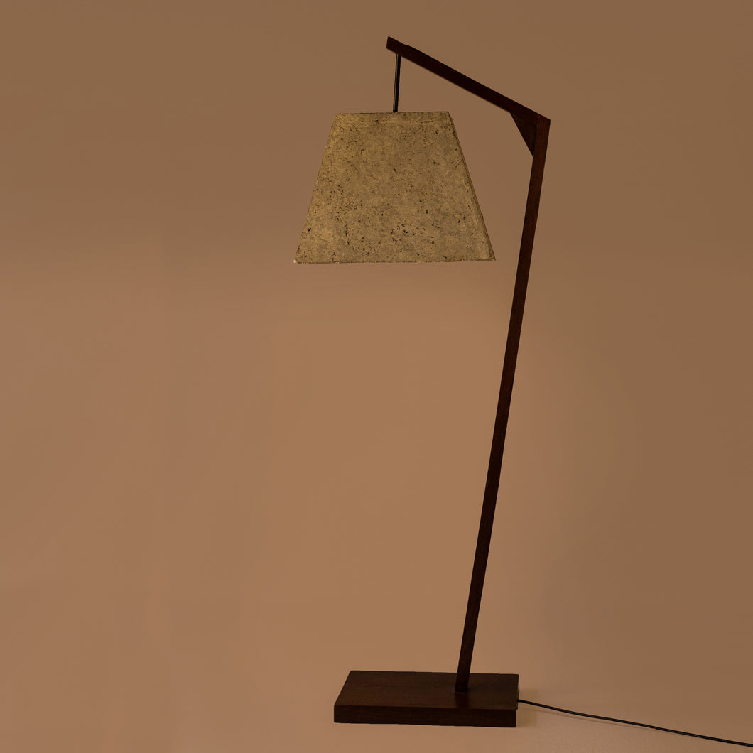 Camber Pitch Floor Lamp with Trapezium Shade