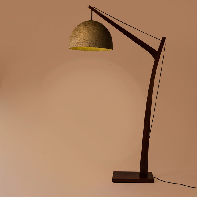 Camber Satellite Floor Lamp with Vault 1 shade